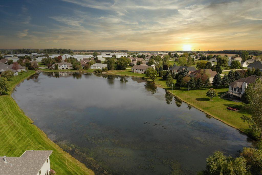 920 Waco Way Belvidere Illinois Lake Drone Photo
