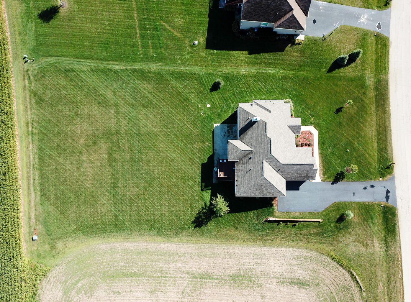 2760 newbury lane drone aerial view