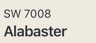 sw 7008 alabaster