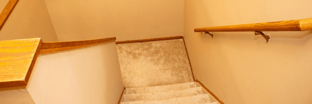 staircase railing looking downstairs