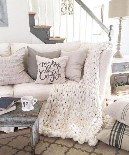warm and cozy aesthetic white